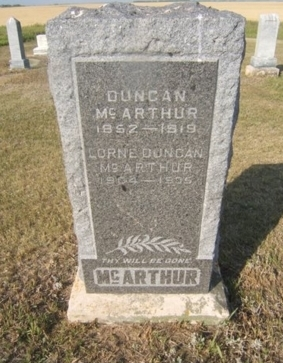 Duncan and son Lorne Duncan  McArthur