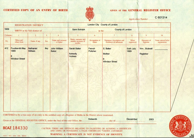 Nathan Birth Registration